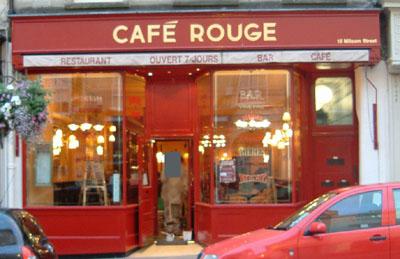 Cafe Rouge Bath Menu